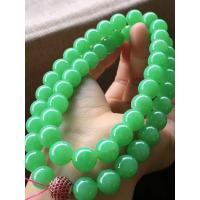苹果绿珠珠项链,卡11.8mm,52颗