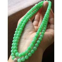 果绿佛珠,卡6.5mm,108颗