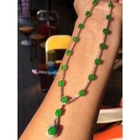 高冰阳绿晚装链,18k金奢华钻石镶嵌