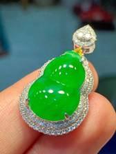 精品绿葫芦,裸石19.8-13-5.2mm,小价
