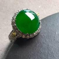 高冰纯正阳戒指,裸石尺寸12/11.5/4.3mm