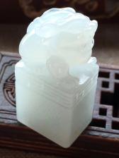 杀不议价,冰润飘黄翡貔貅印章,40.6/19.6/14.9 完美细腻靓丽