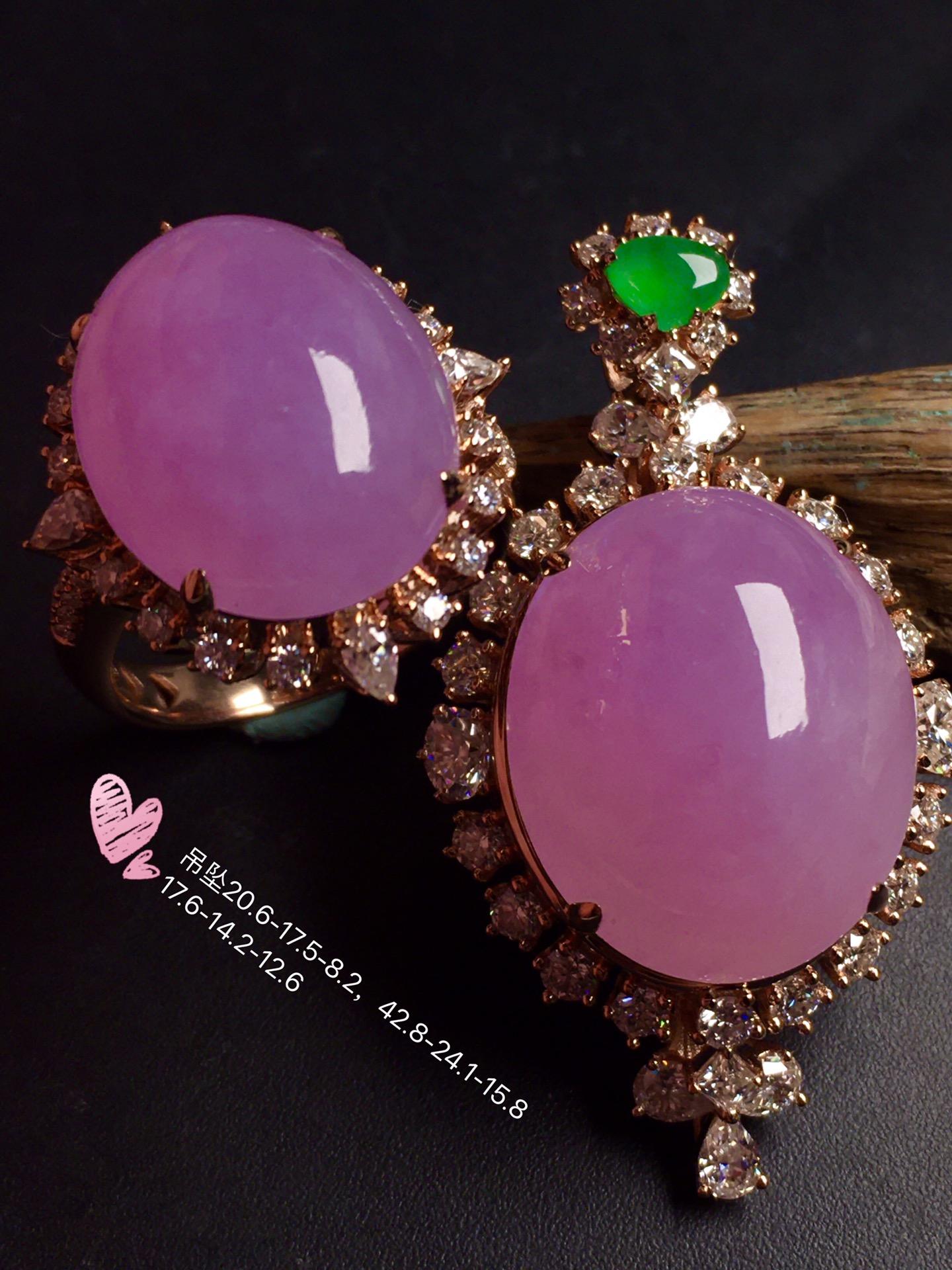 超值,美极了❤【套装,紫罗兰】通透,水润,完美,18k金华奢钻镶石嵌☕第1张