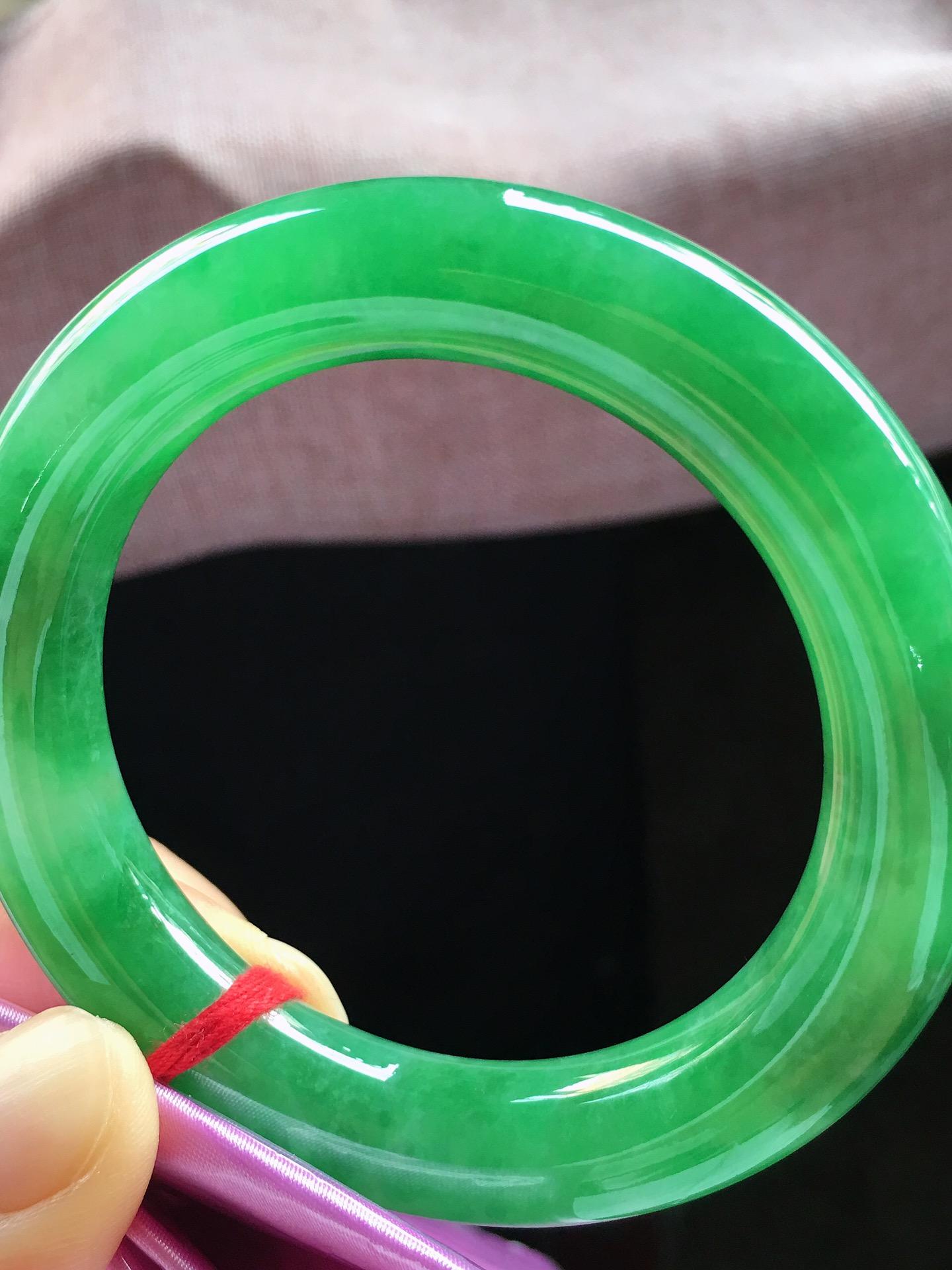 满绿圆条手镯,小圈口53.5第2张