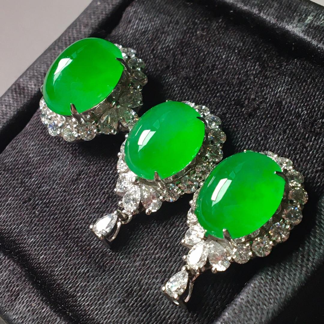 冰阳绿套装,戒指➕耳钉套装第3张