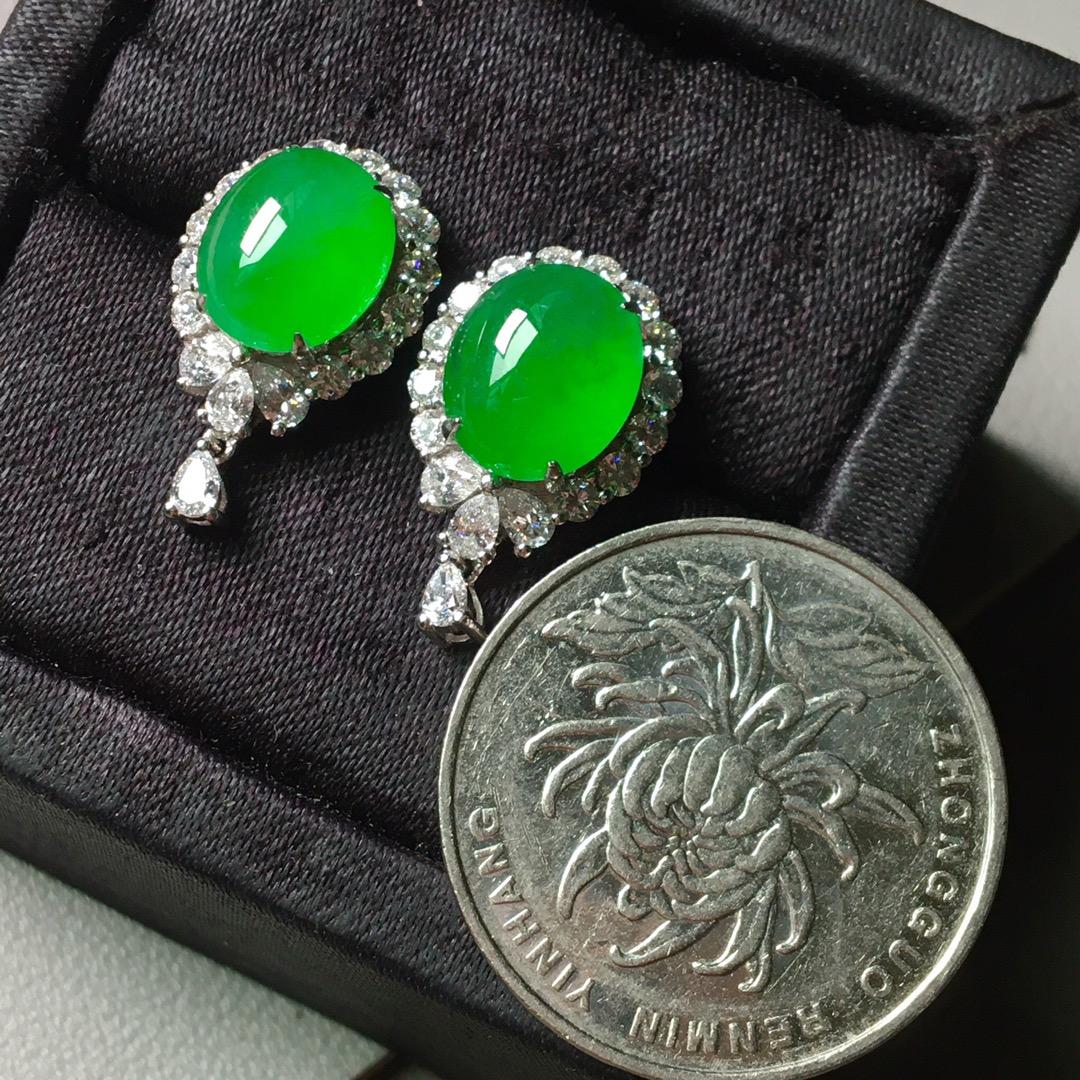 冰阳绿套装,戒指➕耳钉套装第6张
