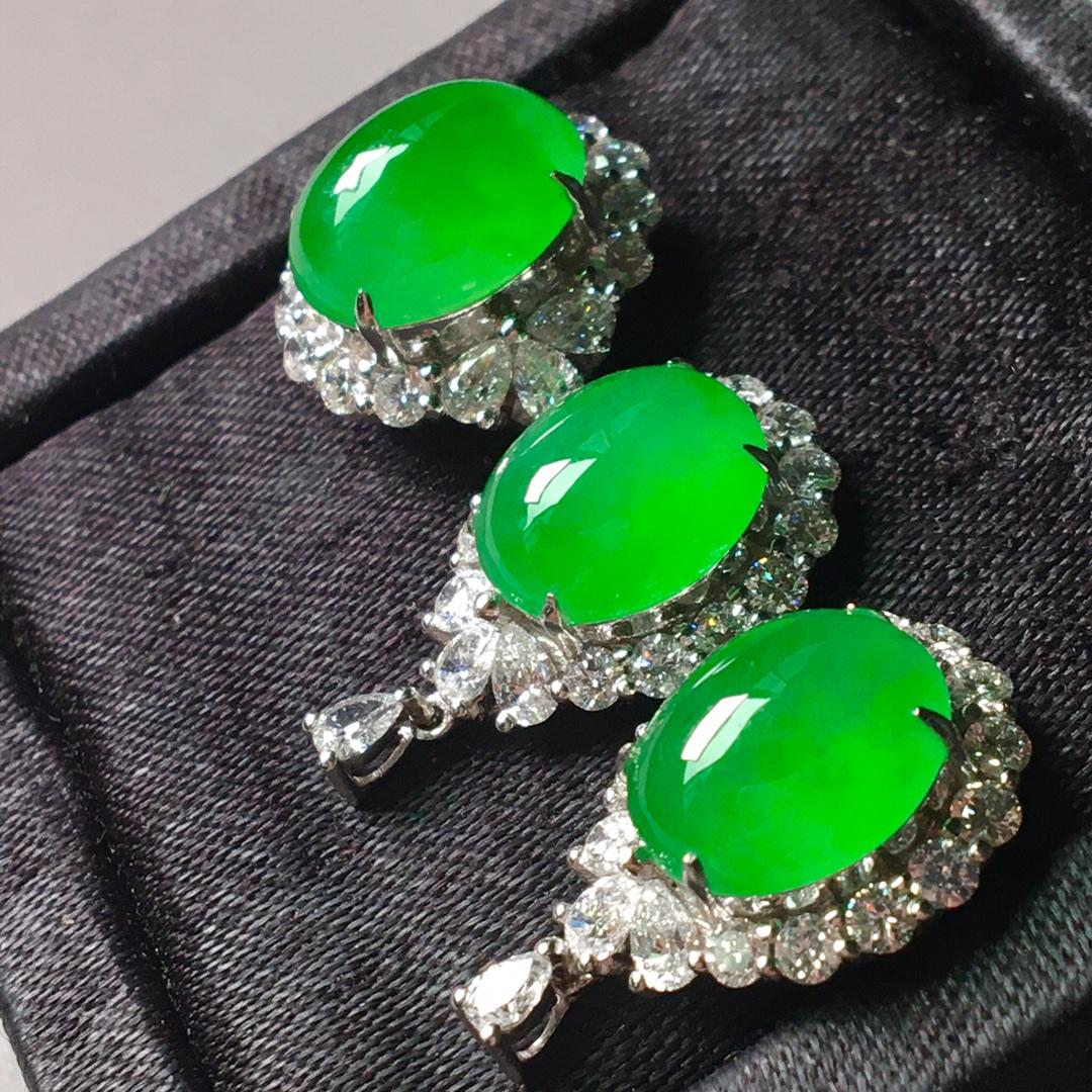 冰阳绿套装,戒指➕耳钉套装第4张