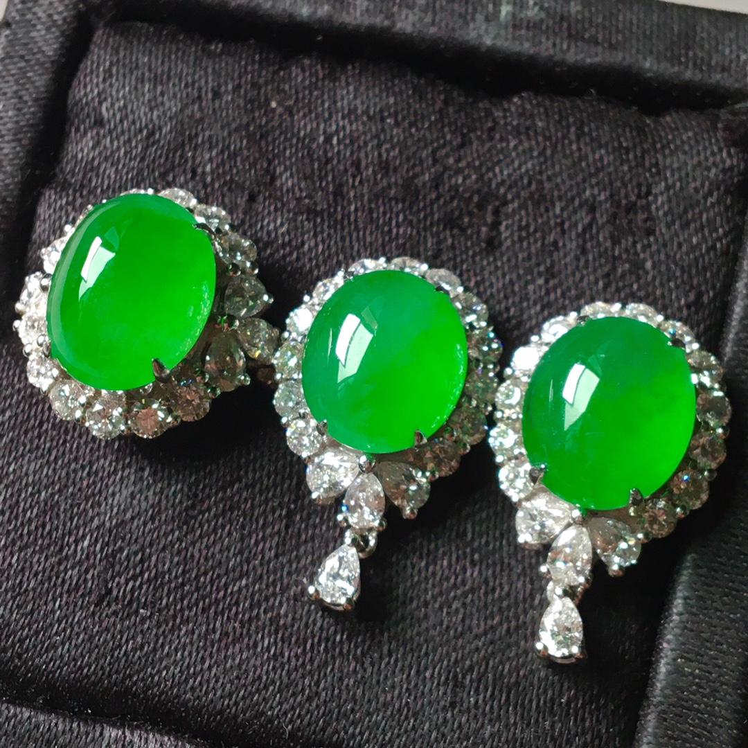 冰阳绿套装,戒指➕耳钉套装第5张