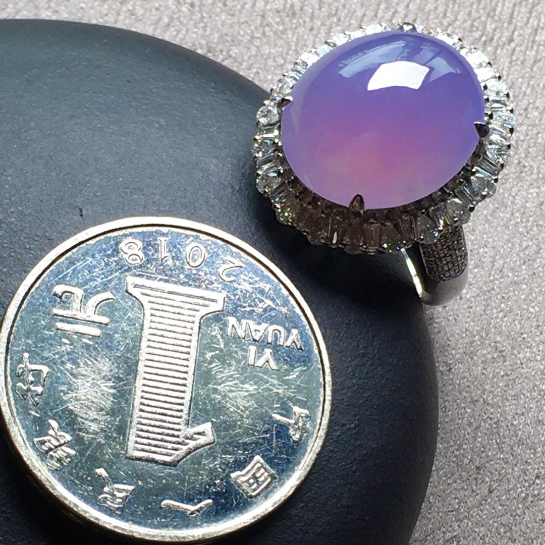 紫罗兰小鸽子蛋戒指,圈口14.5第5张