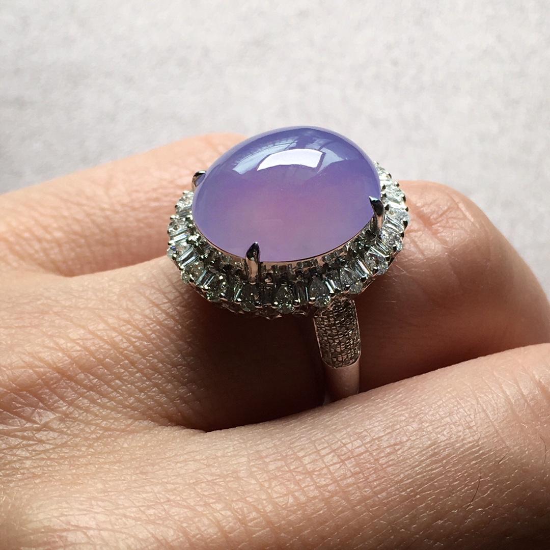 紫罗兰小鸽子蛋戒指,圈口14.5第7张