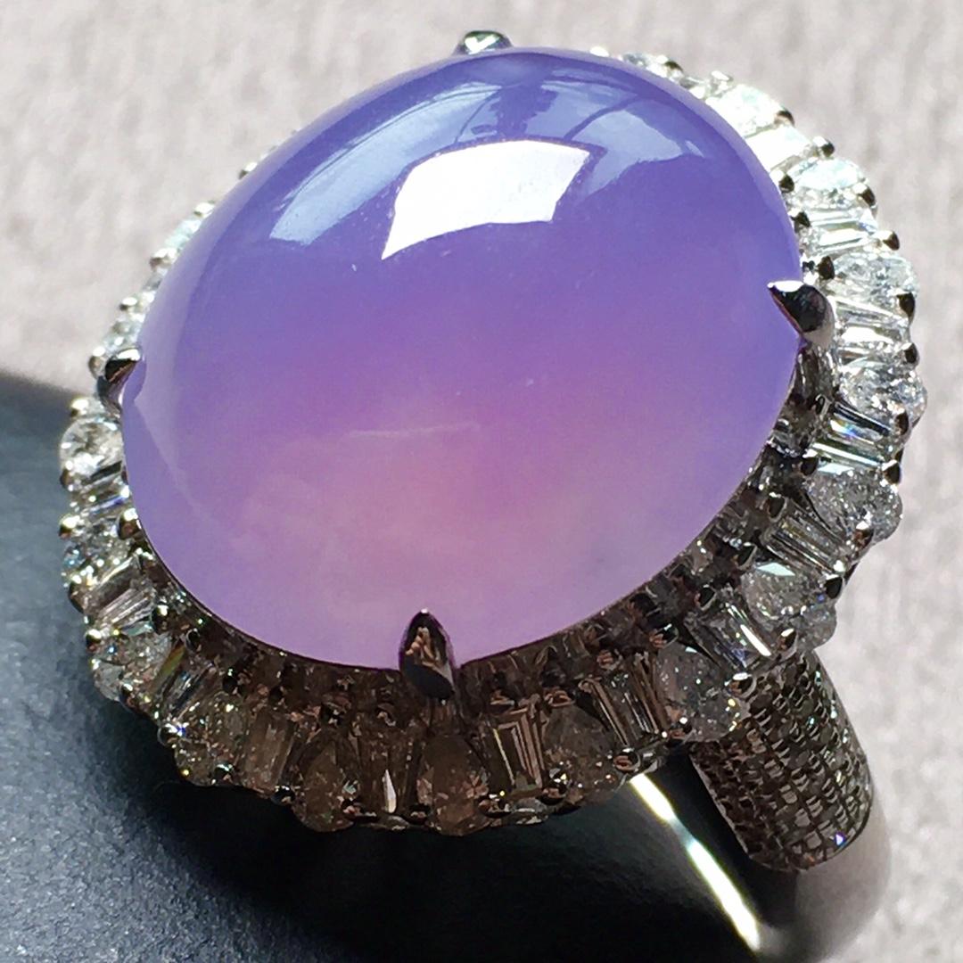 紫罗兰小鸽子蛋戒指,圈口14.5第4张